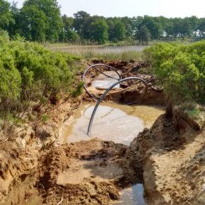 Grundwasserentnahme durch ein Olszewski Ablauf Rohr