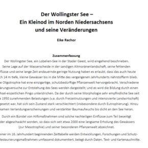 """Sonderheft der """"Bremer Beiträge für Naturkunde u. Naturschutz"""" über nährstoffarme Stillgewässer"""